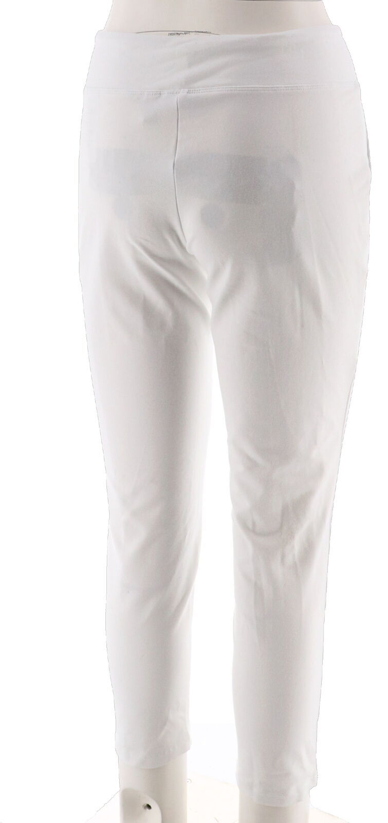 Women with Control Petite Tummy Control Ankle Pant White PL NEW A302065