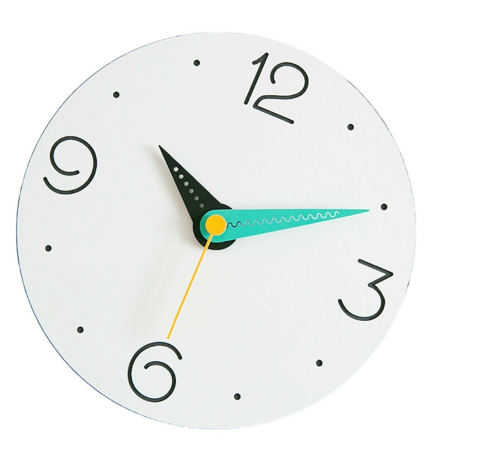 Moro Design Point Line Wall Clock non Ticking Silent Modern Clock (Numeric Mint)
