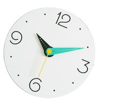 Moro Design Point Line Wall Clock non Ticking Silent Modern Clock (Numeric Mint)