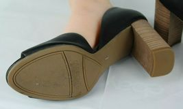 Franco Sarto Emma Damen Schuhe Absatz Leder Oben Ope Zehen Schwarz Größe 9W image 10