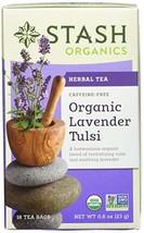 Stash Tea Organic Lavender Tulsi Herbal Tea 18 Count Tea Bags in Foil Pa... - $28.38