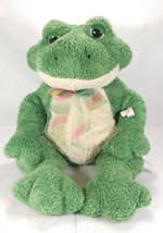Carlton Cards 21 Inch Sitting Green Frog Plush With Tag Soft Huggable Re... - $33.93