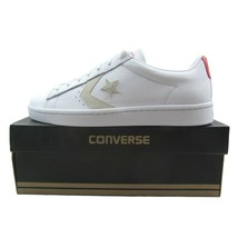 Converse Pro Leather PL 76 OX White Red Low Top 155321C Mens Size 11 - $54.44