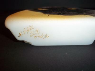 Fenton Glass Black Cat Golden Eyes Iceberg Paperweight Ltd Ed M Kibbe #8/16
