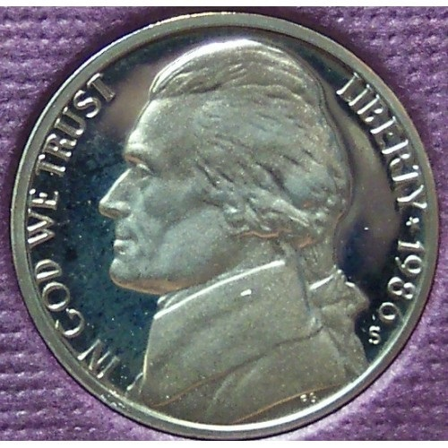 Primary image for 1986-S DCAM Proof Jefferson Nickel PF65 #0385
