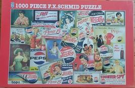Pepsi Memories Jigsaw Puzzle 1000 Piece Vintage Advertisements Schmid Ne... - $19.34
