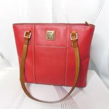 Dooney & Bourke Red Pebbled Textured Leather Medium Shoulder Bag Purse - $99.99