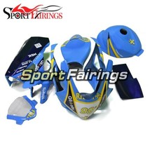 Fiberglass Racing Yellow Blue Hulls For 2005 2006 Suzuki GSXR1000 K5 Fai... - $736.35