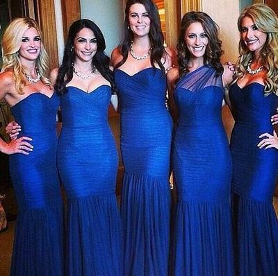 Royal blue bridesmaid dress,long bridesmaid dress,sheath bridesmaid dresses