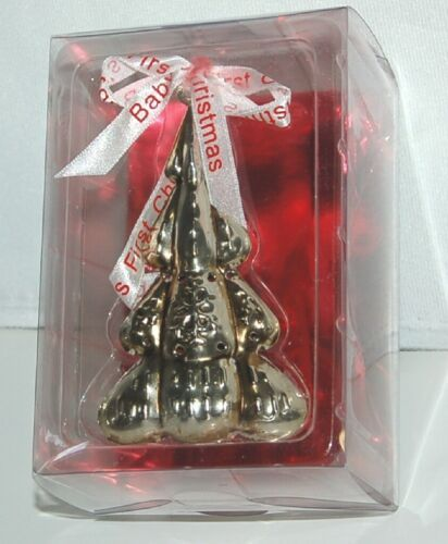 Roman Inc 36772 Babys First Christmas Color Silver Tree Jingle Bell Ornament