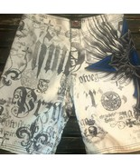 MMA Elite Shorts White Skull Martial Arts Boxing UFC Board Swim Trunks M... - $22.76