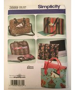 Simplicity 3889 Laptop Computer Bags Sewing Pattern 5 Styles Uncut Trave... - $4.00