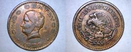 1955 Mexican 5 Centavo World Coin - Mexico - $6.99