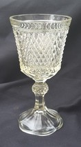 Vintage Indiana Glass Diamond Point Clear Footed Urn Or Chalice - $10.00