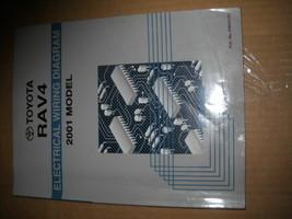 2001 toyota rav4 rav 4 electrical wiring diagram manual ewd worn used water - $29.72