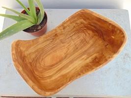 Olive Wood Boat Shaped Salad Fruits Bowl 11.2 X 7.8 X 6.3 Inches, Natura... - ₨7,601.81 INR