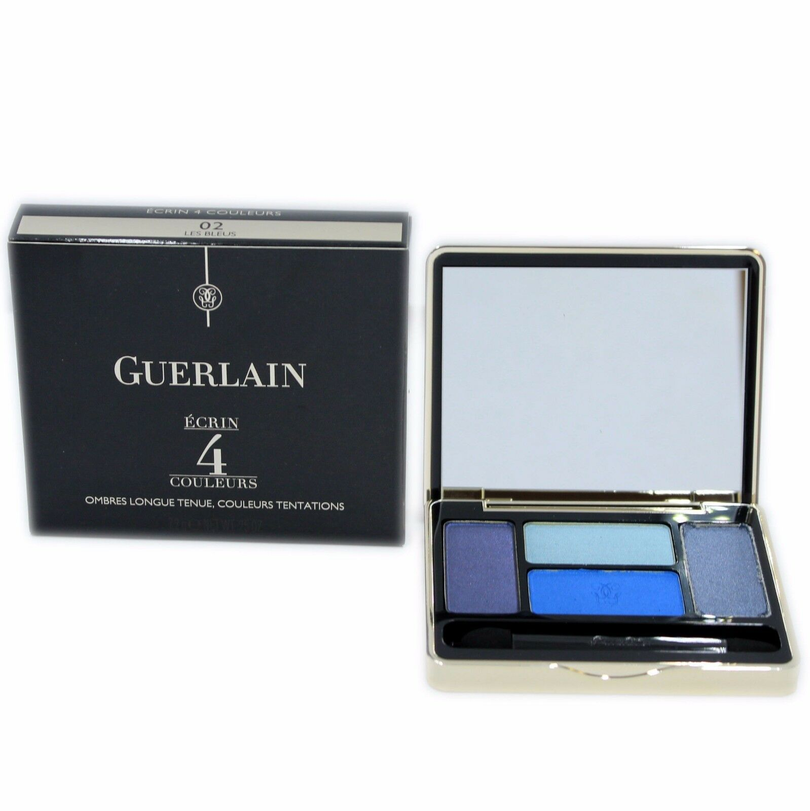 Primary image for GUERLAIN ECRIN 4 COULEURS LONG-LASTING EYESHADOWS 7.2G #02 LES BLEUS-41146