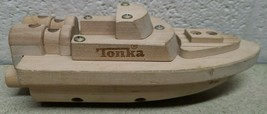 Wooden Wood Tonka Boat toy Ship - $9.79
