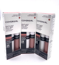Lot of 3 COVERGIRL Outlast All-Day Lipcolor Lipstick Forever Fawn 598 24... - $26.73