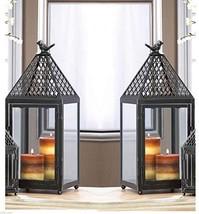 2 Bulk Large 19'' Tall Bird cage Candle Holder Lantern Lamp Outdoor Terr... - $99.45