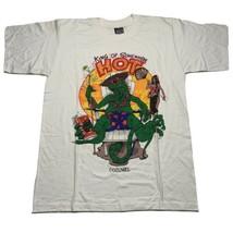 Vintage 90's King Of Somewhere Hot Men's Size Large Cozumel Lizard T Shi... - £14.34 GBP