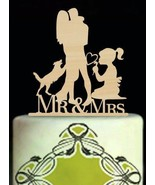 Buythrow® Little Girl And Dog Cake Topper Romantic Bride And Groom Rusti... - $24.01