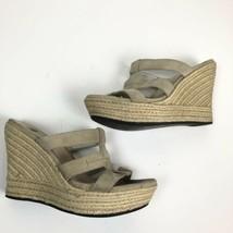 Ugg Tawnie Espadrilles Wedge Sandal Platform 1000404 Beige Size 9 - ₹2,106.91 INR