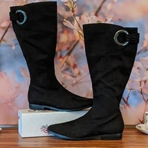 """Impo """"Amble"""" Black Faux Suede Thigh High Women's Flat Foot Boots, Size 8 - $22.50"""