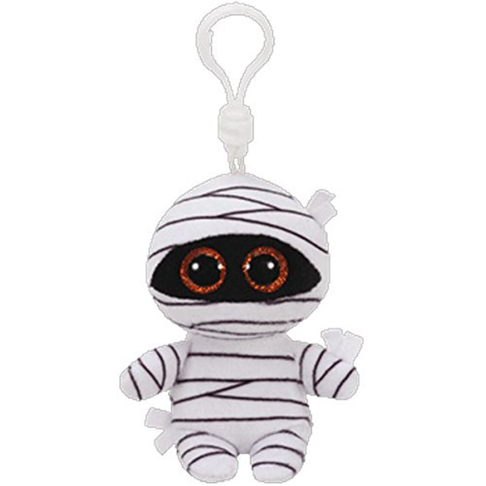 original ty boos 4 9cm mummy white halloween mummy clip plush keychain stuffed ghost collection