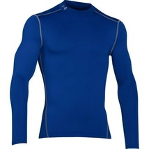 Under Armour Men's ColdGear Compression Mock Tee NEW AUTHENTIC Blue 1265... - $44.99