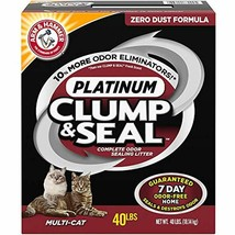 ARM & HAMMER Clump Seal Platinum Litter 40 Lb Controls Odor Cat Kitty Pa... - $40.54