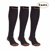 Thx4 Copper Knee High Compression Socks 15-20mmHg for Men &Women, Guaran... - $25.19