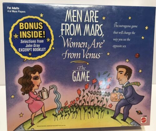 Primary image for Men Are From Mars Women Are From Venus Board Game Factory Sealed New
