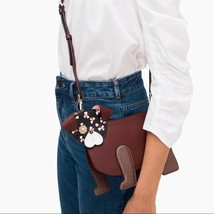 NWT Kate Spade Womens Floral Pup Dog Crossbody Bag in Cherry Wood $249 - $125.49