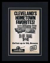 1988 Oscar Meyer / Cleveland Browns Framed 11x14 ORIGINAL Vintage Advert... - $37.04