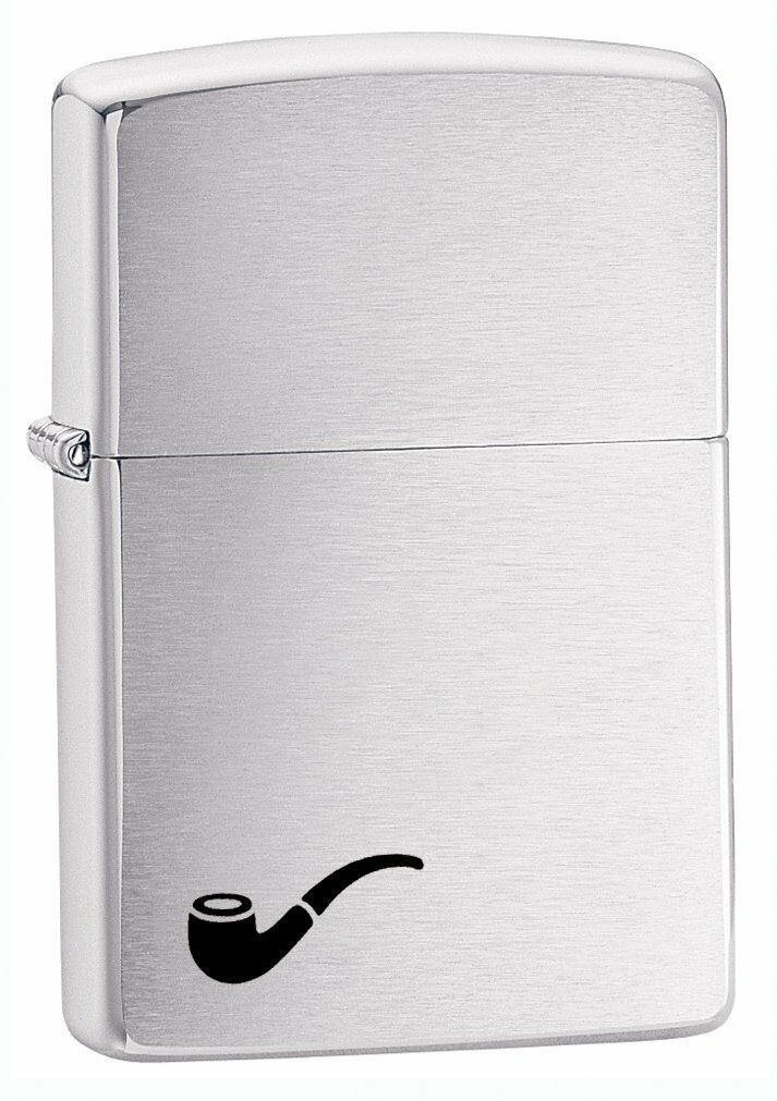 Zippo Pipe Lighter Brushed Chrome Windproof Lifetime Guarantee Made in USA New - $19.49