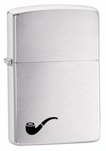 Zippo Pipe Lighter Brushed Chrome Windproof Lifetime Guarantee Made in U... - $19.49