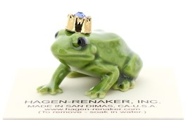 Hagen-Renaker Miniature Ceramic Frog Figurine Birthstone Prince 09 September image 1