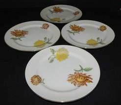 4 Kent Verona Round Bread Dessert Plates Occupied Japan Chrysanthemum Go... - $34.64