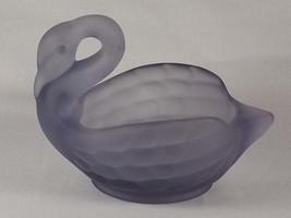 Viking Glass Epic Swan Candy Bowl in Satin Lilac #6946, Pastel Lavender ... - $37.00