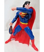 "NWT 12"" Figure Superman DC Comics Vinyl Fixed Pose Removable Cape 1995 - $34.65"