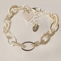Silver 925 Bracelet Rhodium Disc Brake Worked by Mary Jane Ielpo image 1