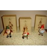 Hallmark 3 Toymaker Elves 1987 Porcelain Figurines - $21.99