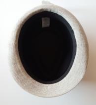 Nuovo da Uomo Nero Chambray Grigio Cotone Cappello Fedora Con Macchie M/L Nwt image 2