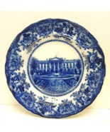 "Antique Flow Blue 10 1/4"" Plate - Palace Scene - $28.49"