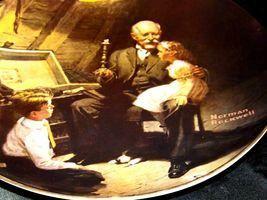 """Grandpa's Treasure Chest"" by Norman Rockwell Decorative Plate AA19-1668 Vinta image 5"