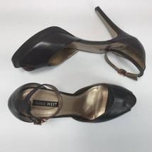 Nine West Women Shoe Heels Peep Toe 'Nwaleena' Ankle Strap Brown Size 10... - €24,66 EUR