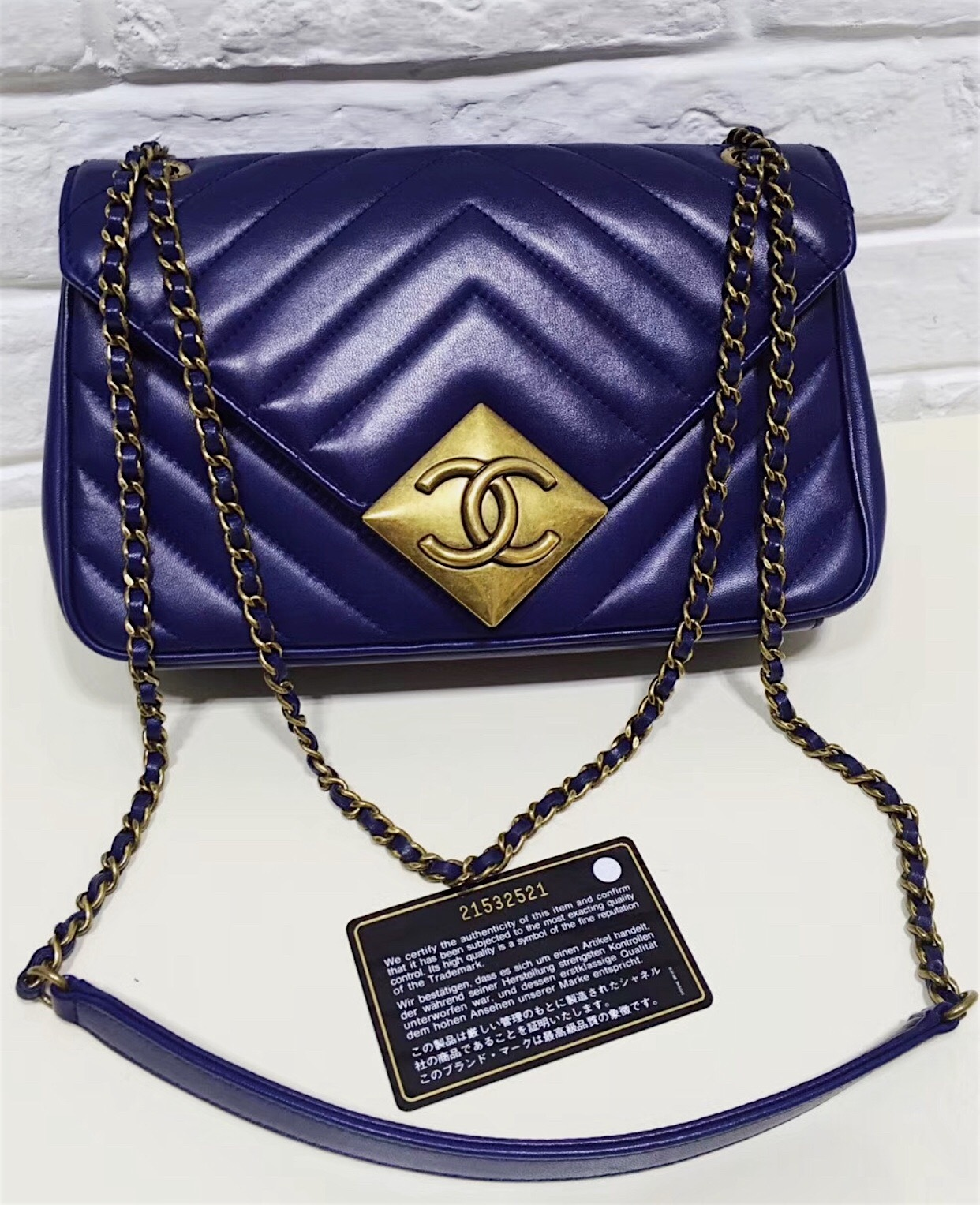 d0c34e4b96ea 100% Authentic Chanel Royal Blue Lambskin and 44 similar items