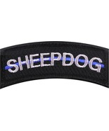 "Thin Blue Line Sheepdog Law Enforcement Hook & Loop Morale Patch 3"" x 1.25"" - $7.29"