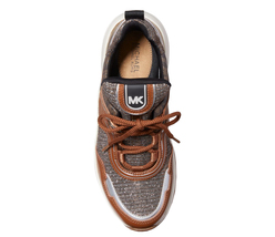 Michael Kors Women's Olympia Trainer Glitter Chain Mesh Bronze Sneaker Shoes image 5